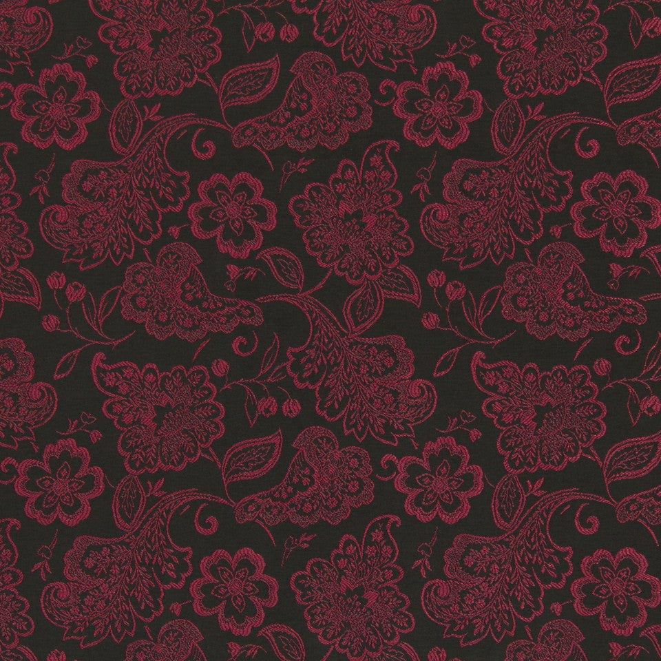 TULIP Lacy Blooms Fabric - Tulip