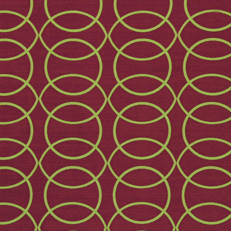 FUCHSIA Circle Grove Fabric - Tulip