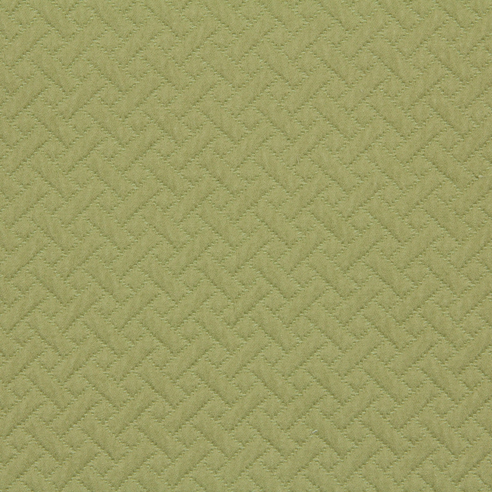 MATELASSES Quilted Shapes Fabric - Leek