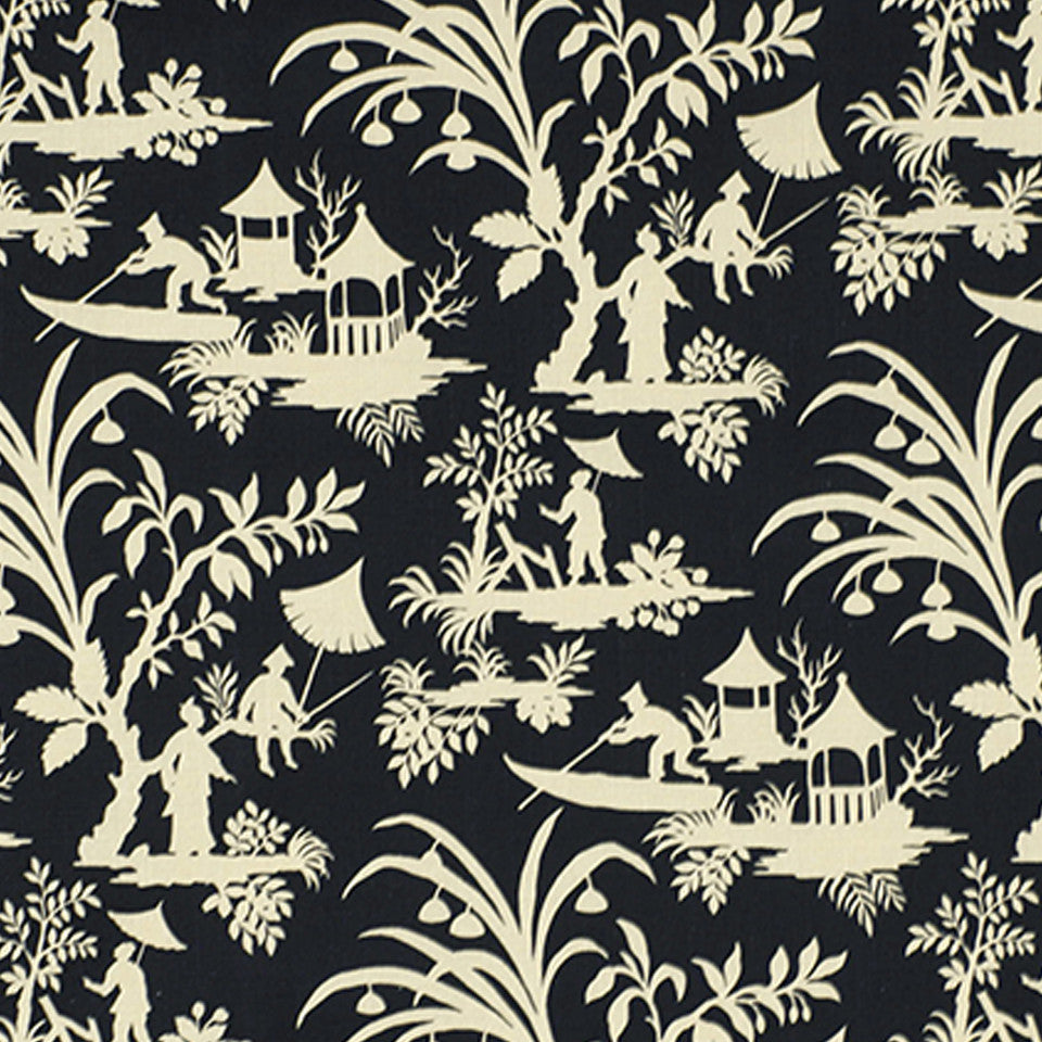 PEWTER-TOURMALINE-BLUEBELL Crystal Lake Fabric - Midnight