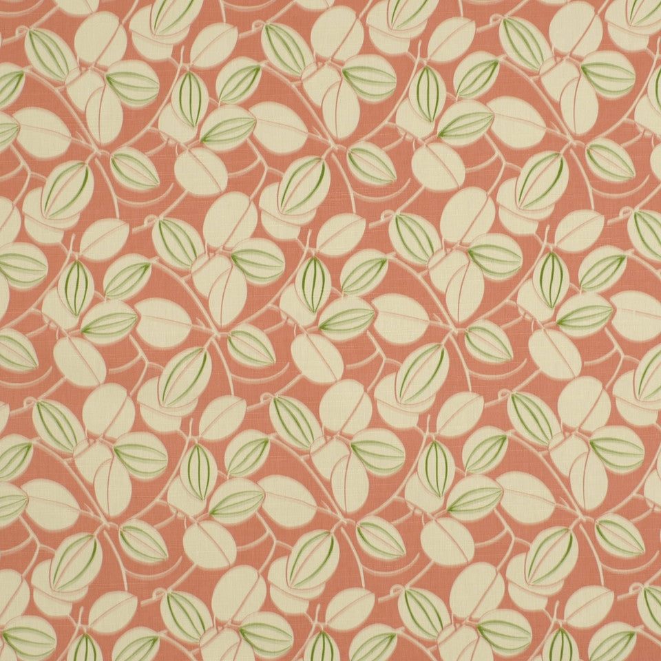 TULIP-ZINNIA-BERRY Jumbo Leaves Fabric - Tulip