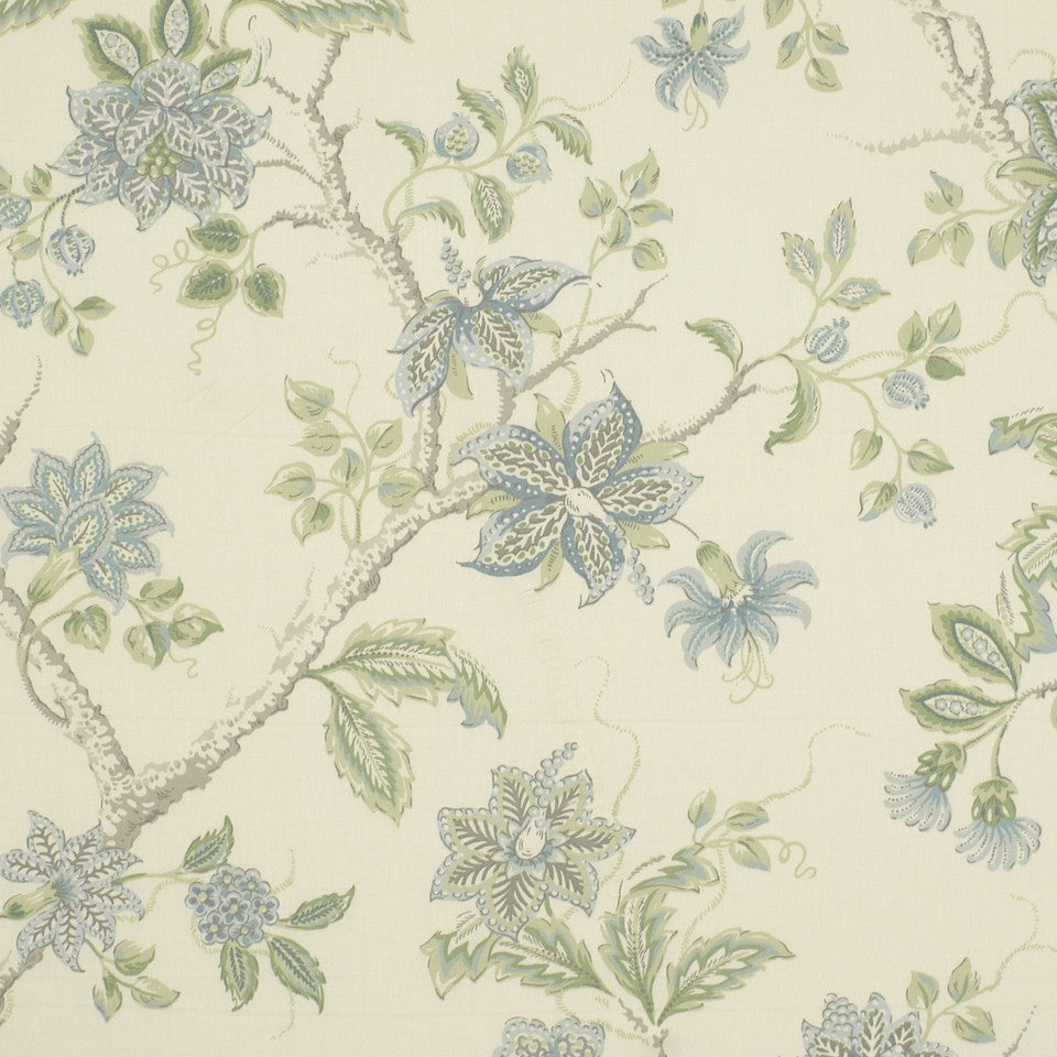 Meadowview Fabric - Aqua