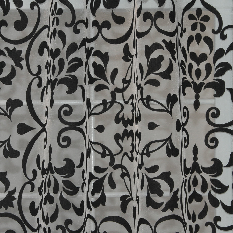 MODERN SHEERS Infamous Fabric - Ebony