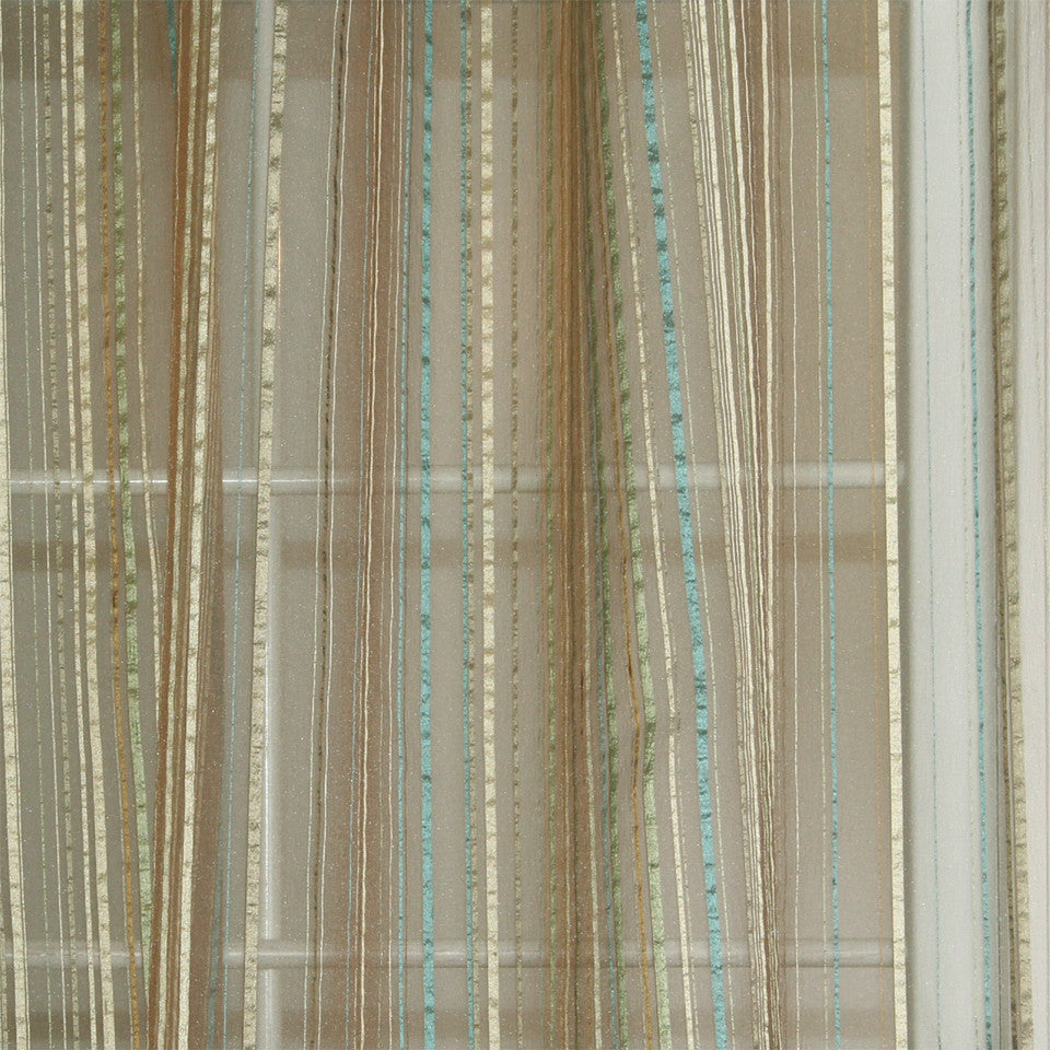 MODERN SHEERS Misty Haze Fabric - Baltic