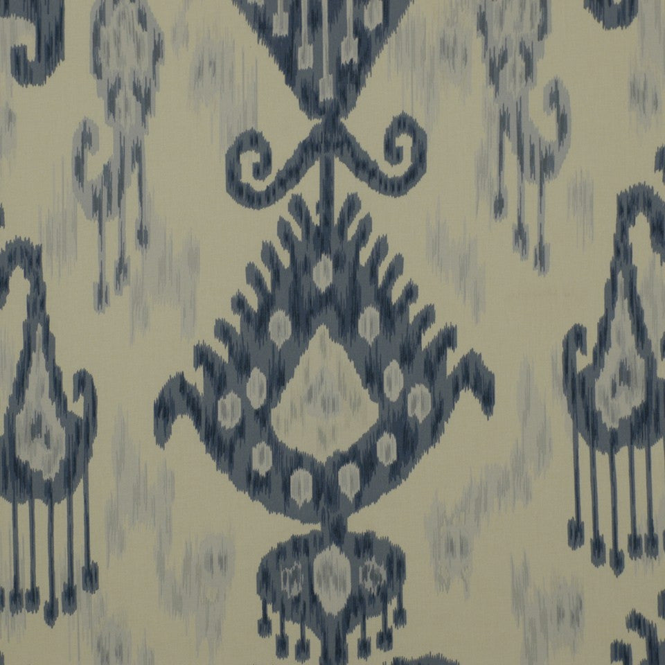 PEWTER-TOURMALINE-BLUEBELL Khandar Fabric - Indigo