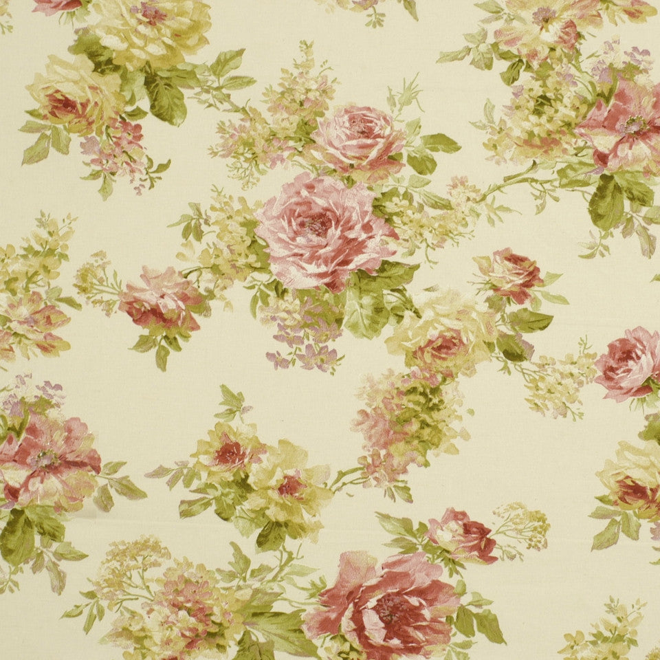 TULIP-ZINNIA-BERRY Painted Garden Fabric - Tulip