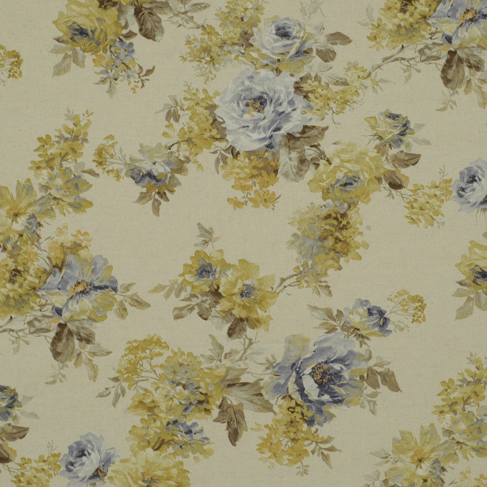 HYDRANGEA-SKIPPER-CHAMBRAY Painted Garden Fabric - Skipper