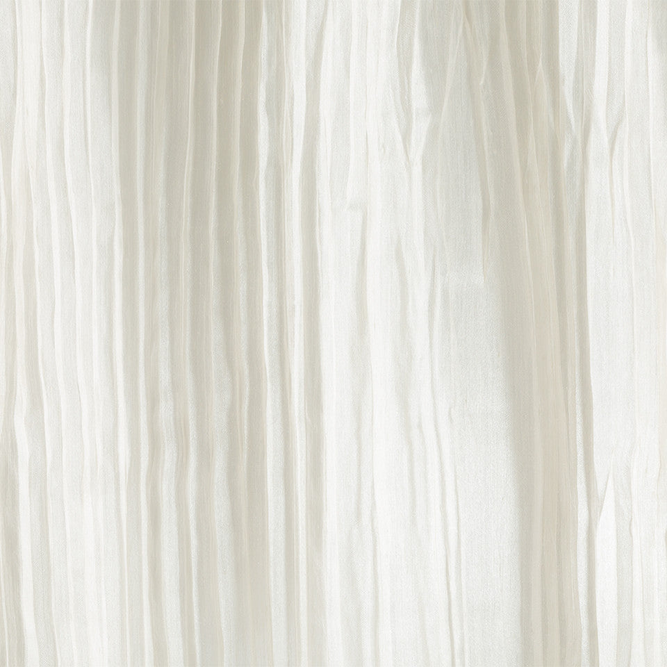 Lustrous Sheers Crinkle Cut Fabric - Sugarcane