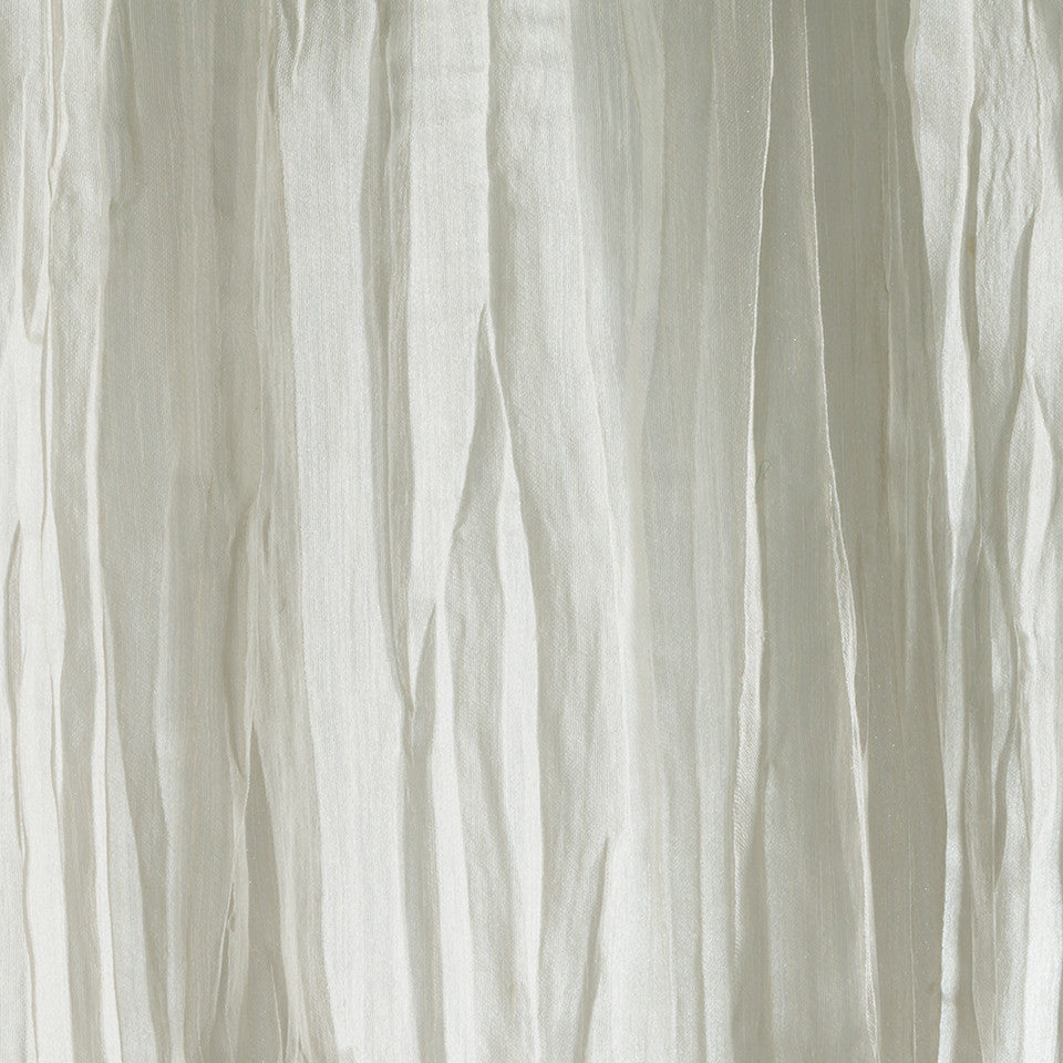 Lustrous Sheers Crinkle Cut Fabric - Alabaster
