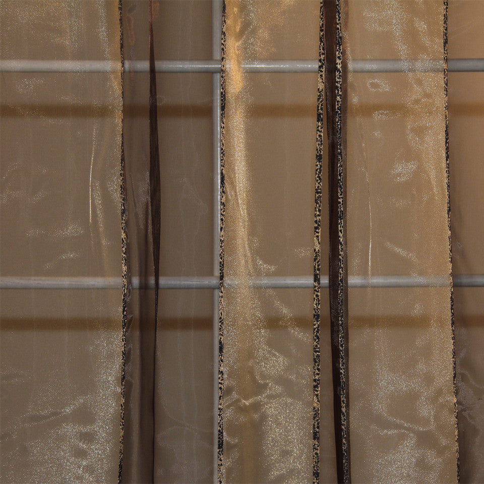 MODERN SHEERS Fall Lines Fabric - Toffee