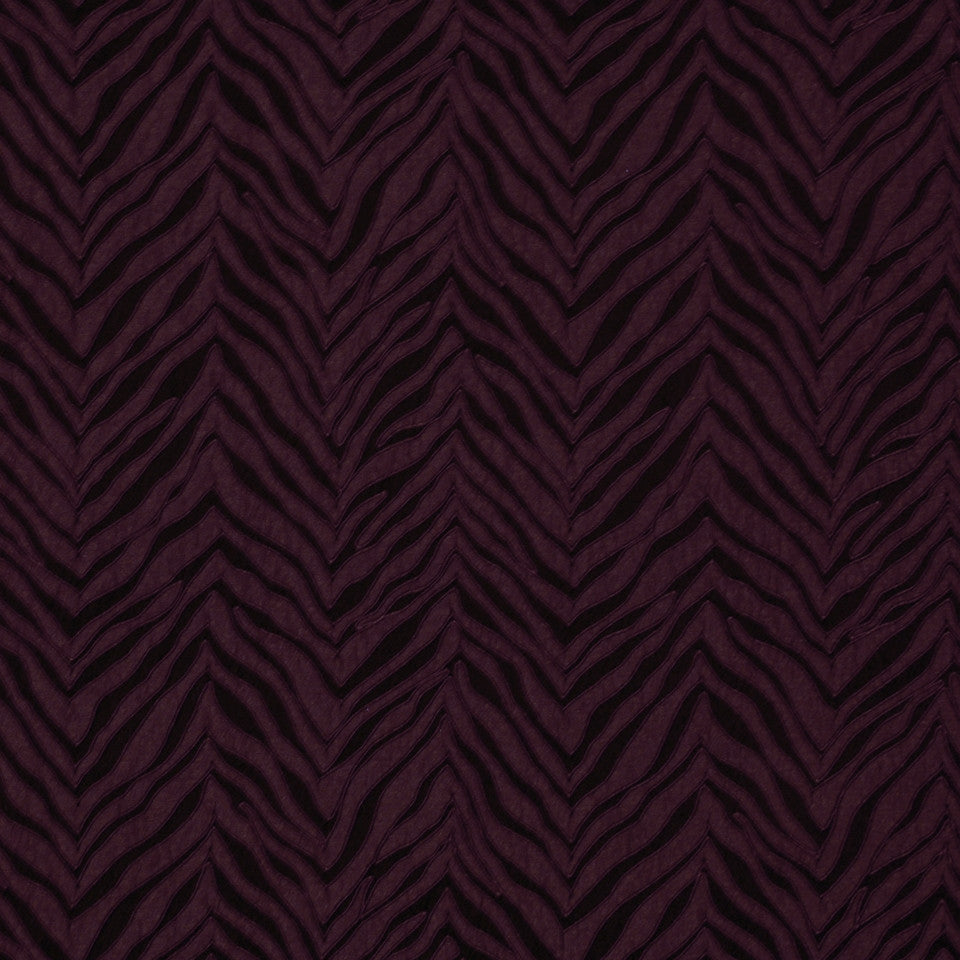 TOURMALINE-INDIGO-MULBERRY New Contours Fabric - Mulberry