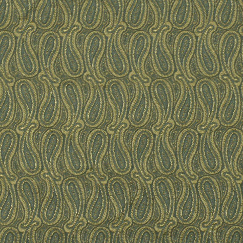 TOURMALINE-INDIGO-MULBERRY Shiny Paisley Fabric - Tourmaline