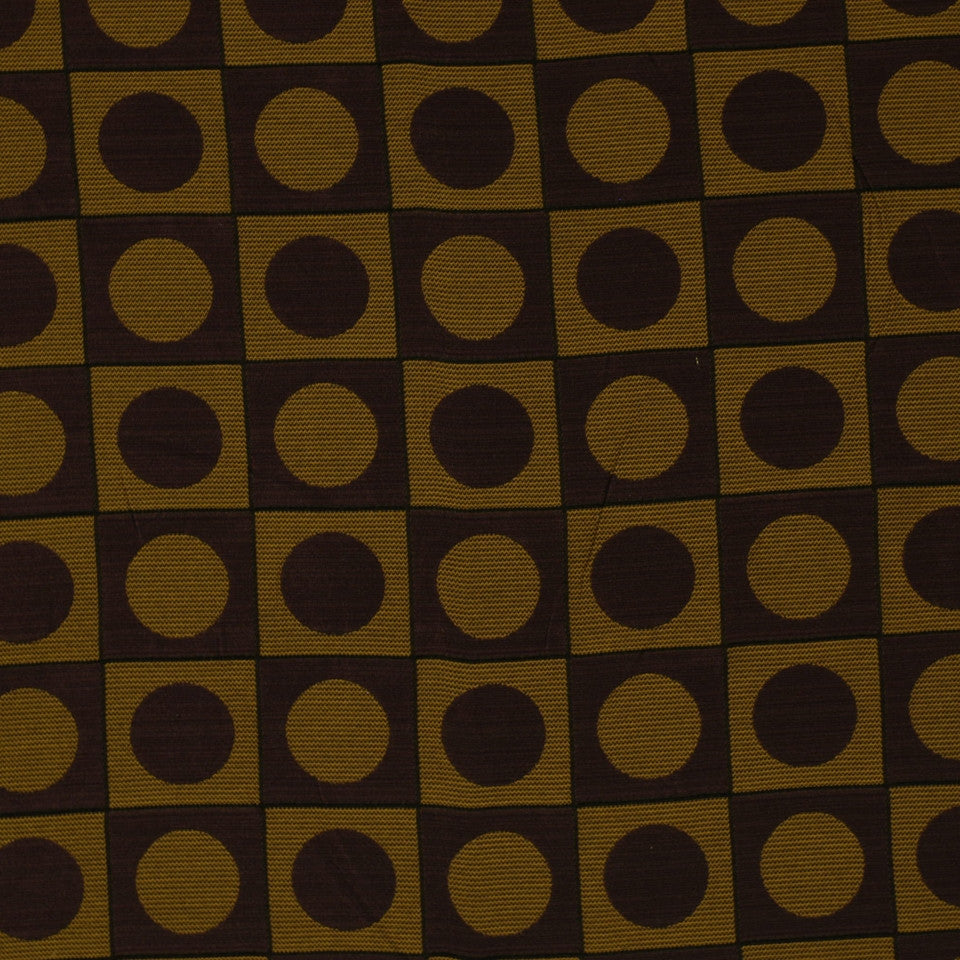 TOURMALINE-INDIGO-MULBERRY Square Circles Fabric - Mulberry