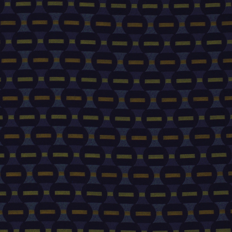 TOURMALINE-INDIGO-MULBERRY Interior Loop Fabric - Indigo
