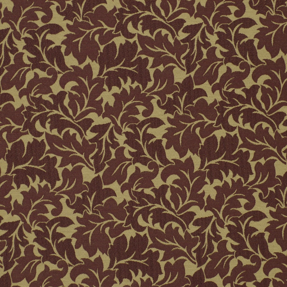 TOURMALINE-INDIGO-MULBERRY Curly Leaf Fabric - Mulberry