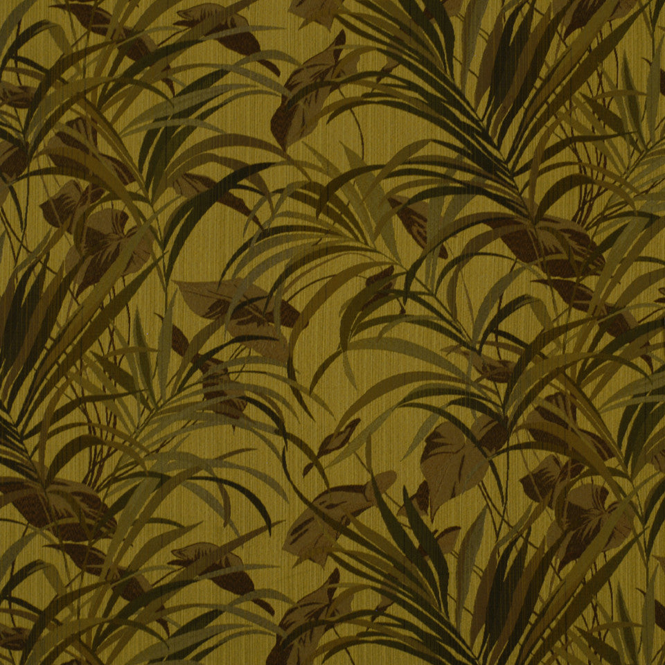 DOCKSIDE Jungle Ferns Fabric - Seaweed
