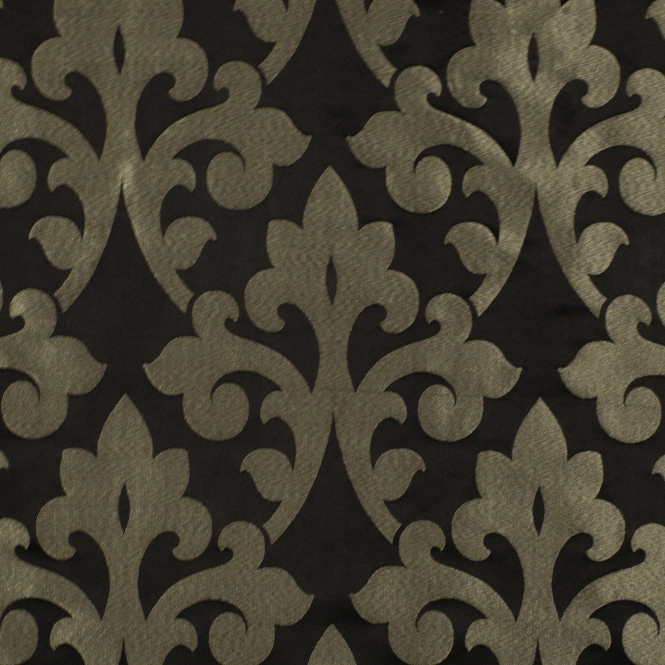 WINTER Dramatic Swirl Fabric - Onyx
