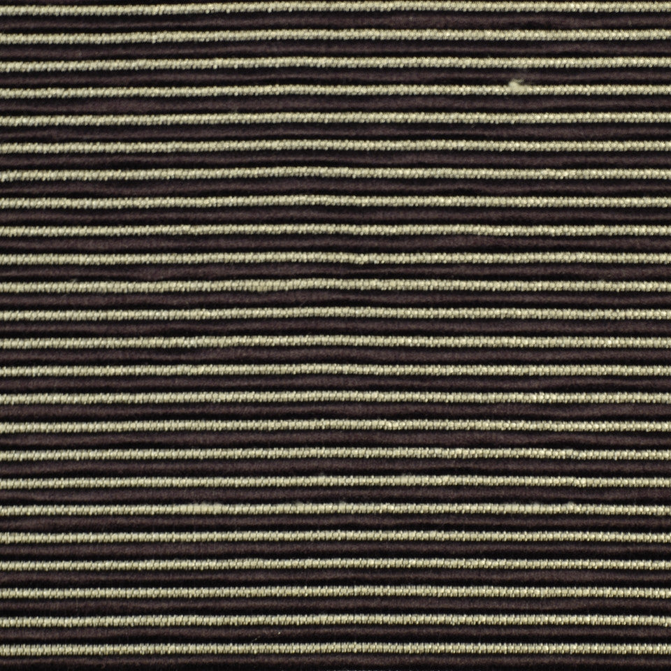WINTER Ribbed Rows Fabric - Ebony