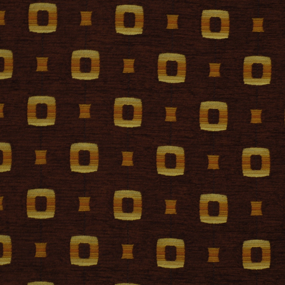 EXCURSIONS Square Concept Fabric - Chocolate
