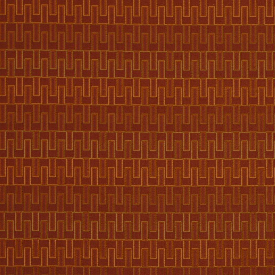 EXCURSIONS Dynamic Bars Fabric - Flame