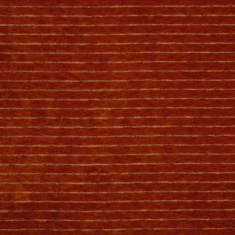 EXCURSIONS Melange Stripe Fabric - Flame