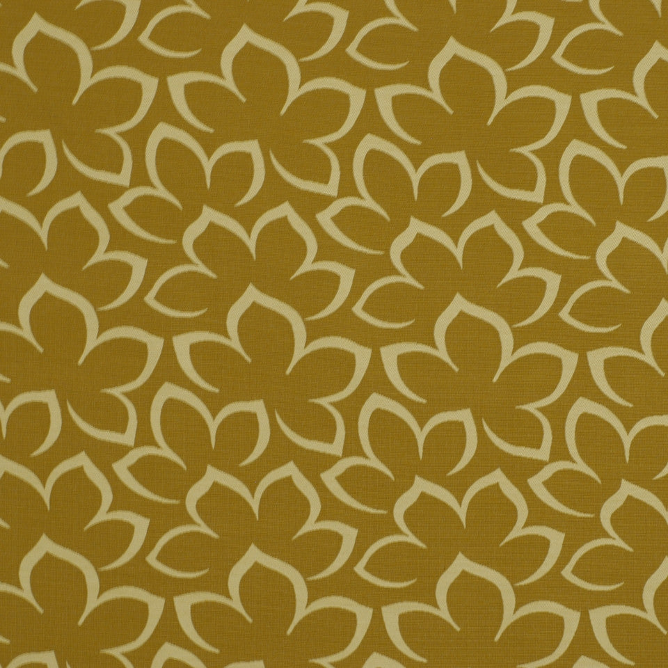 EXCURSIONS Matisse Floral Fabric - Cashew