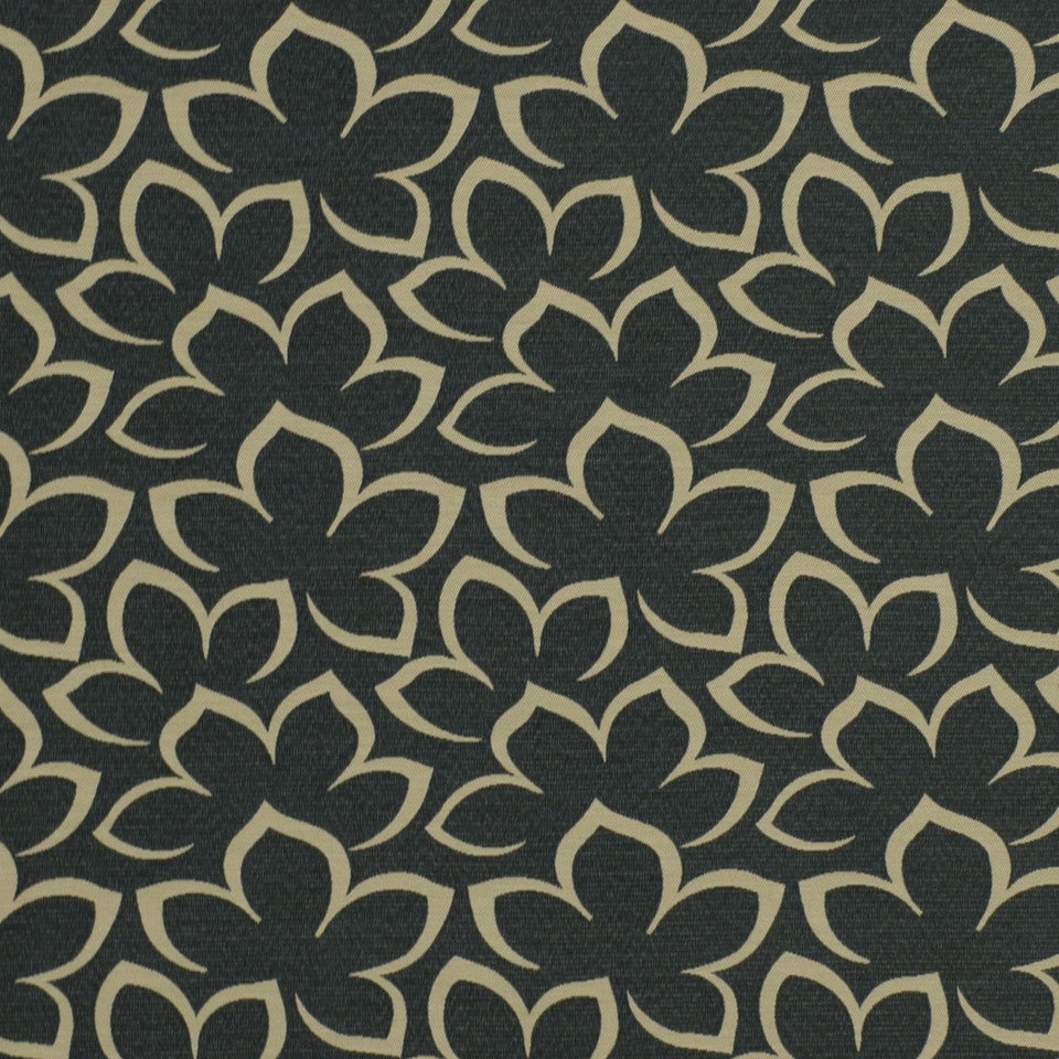EXCURSIONS Matisse Floral Fabric - Slate Blue