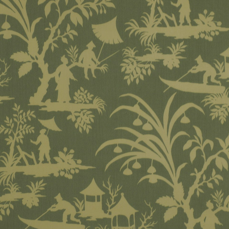Lake Paradise Fabric - Spa