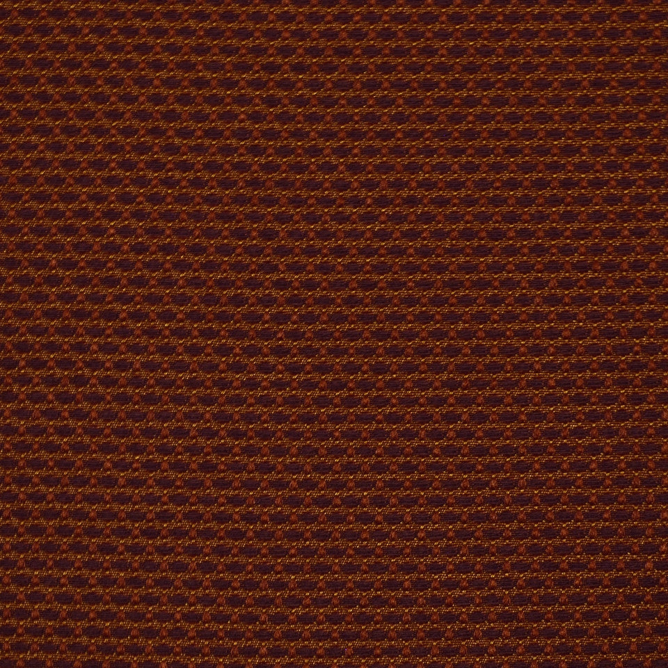 CORPORATE BINDER: UPHOLSTERY SOLIDS AND TEXTURES/ECO UPHOLSTERY II Basket Stitch Fabric - Flame