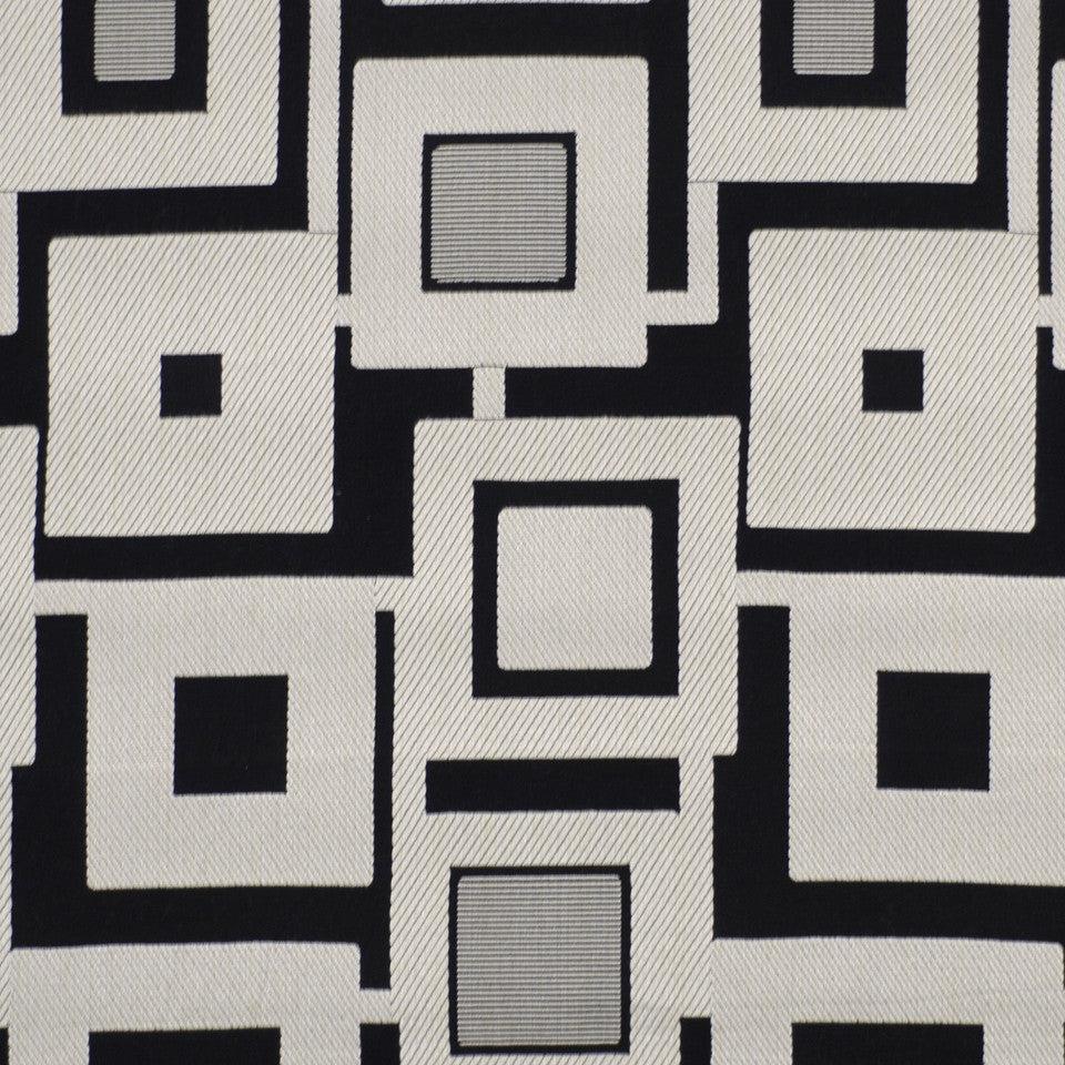LARRY LASLO MIAMI BEAT Deco Flair Fabric - Domino