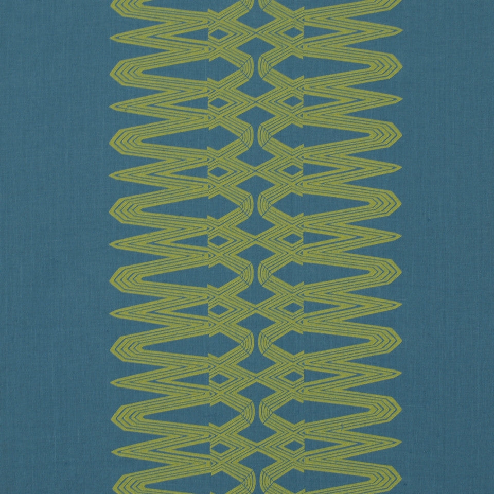 LARRY LASLO MIAMI BEAT Metropole Fabric - Electric Blue