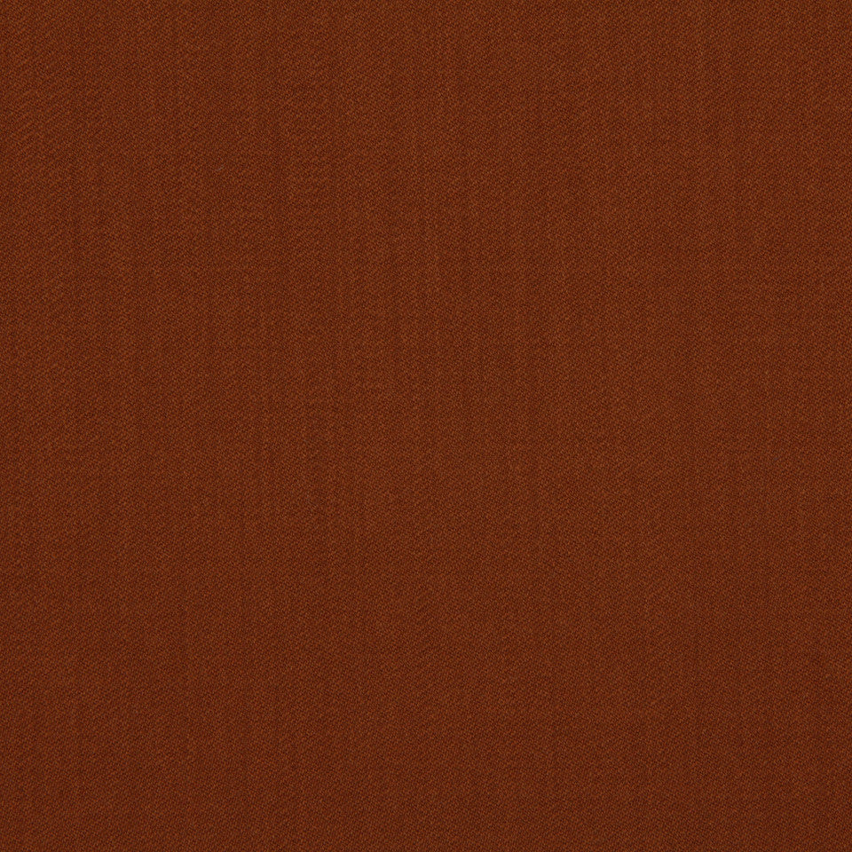 LINEN, WOOL AND CASHMERE SOLIDS Wool Sateen Fabric - Rust