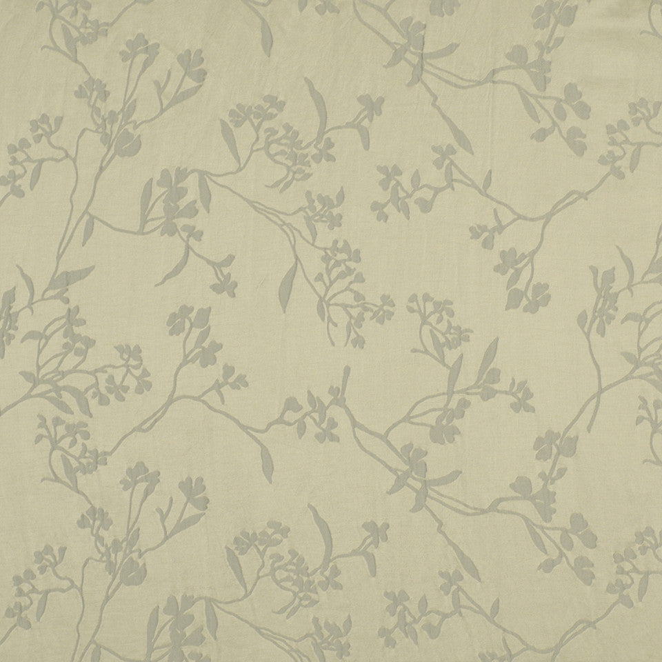 NEUTRALS Thale Cress Fabric - White Silver