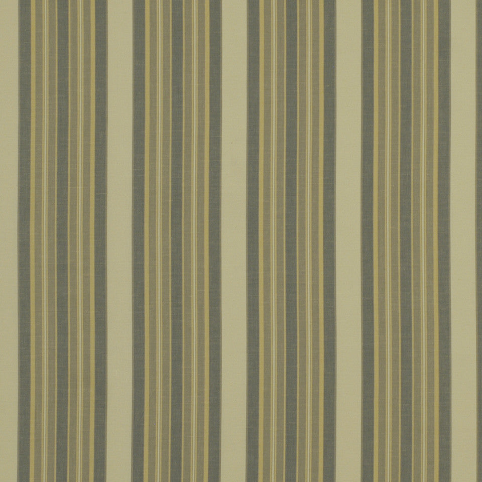 NEUTRALS Thistle Stripe Fabric - Pewter White