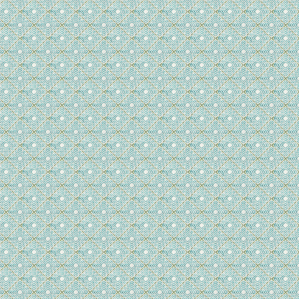 TURQUOISE Artisinal Fabric - Aquatic
