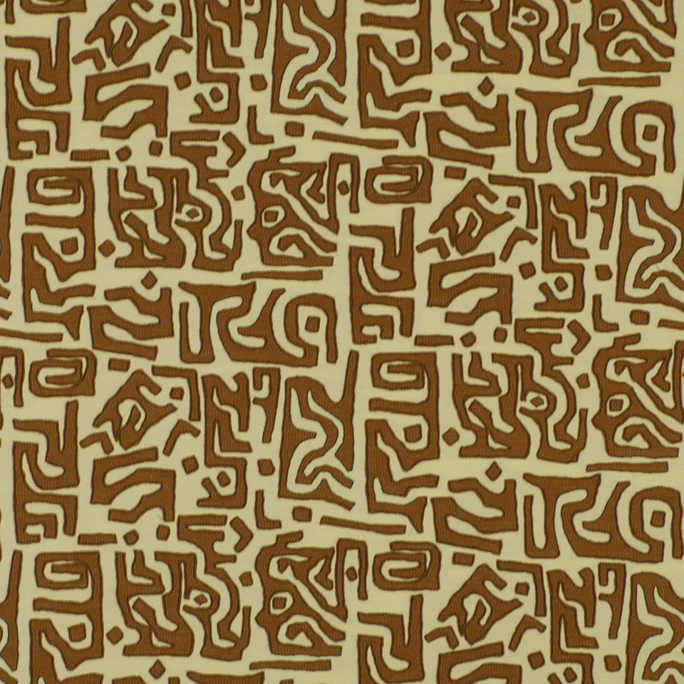 LARRY LASLO RUSTIC CHIC Kasai Cloth Fabric - Henna