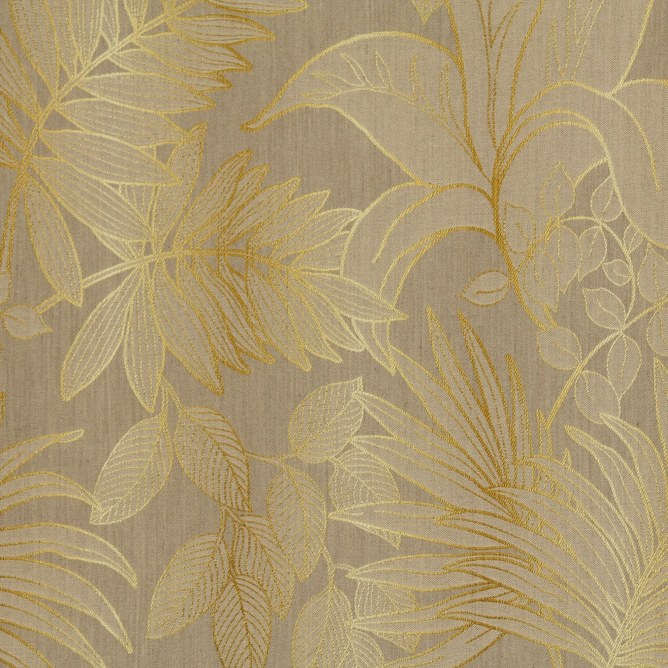 LARRY LASLO RUSTIC CHIC Palm Resort Fabric - Lemon Curry