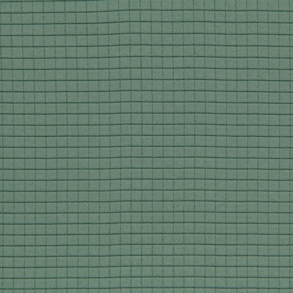 LAGOON-COVE-ALOE Grid Squared Fabric - Spa