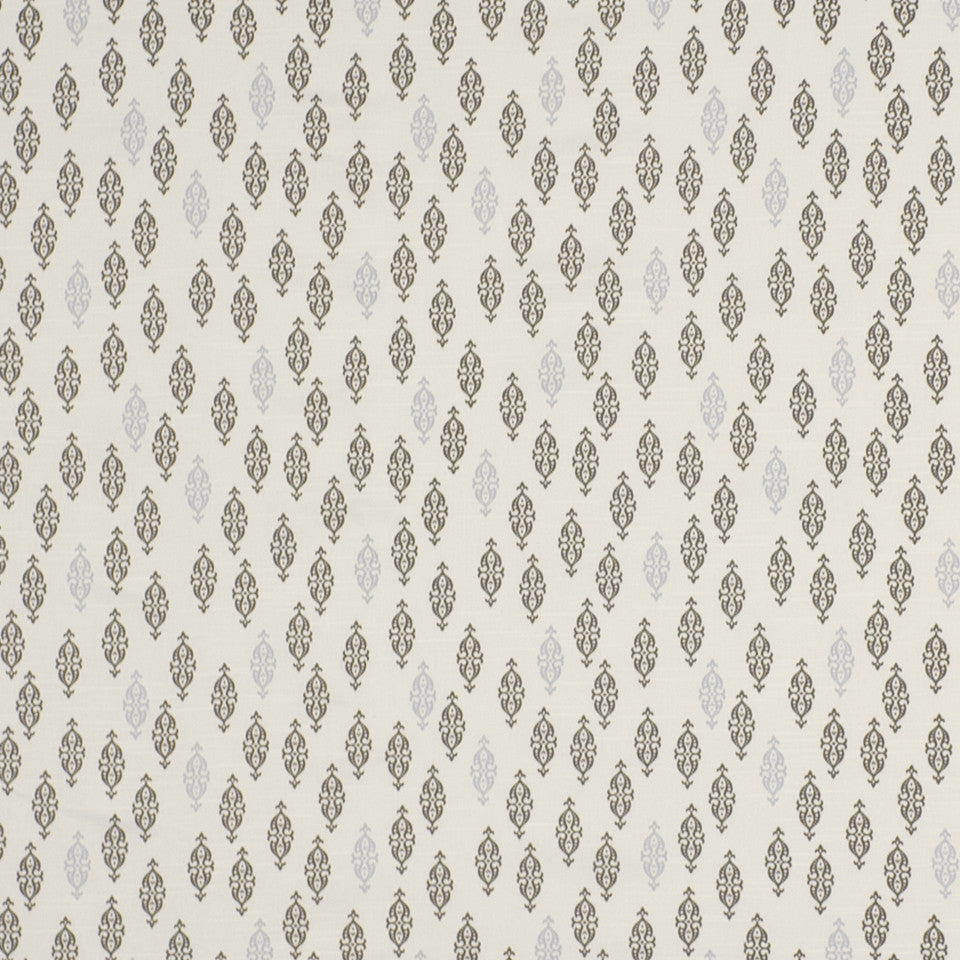 DWELLSTUDIO ECLECTIC MODERN Boteh Fabric - Brindle