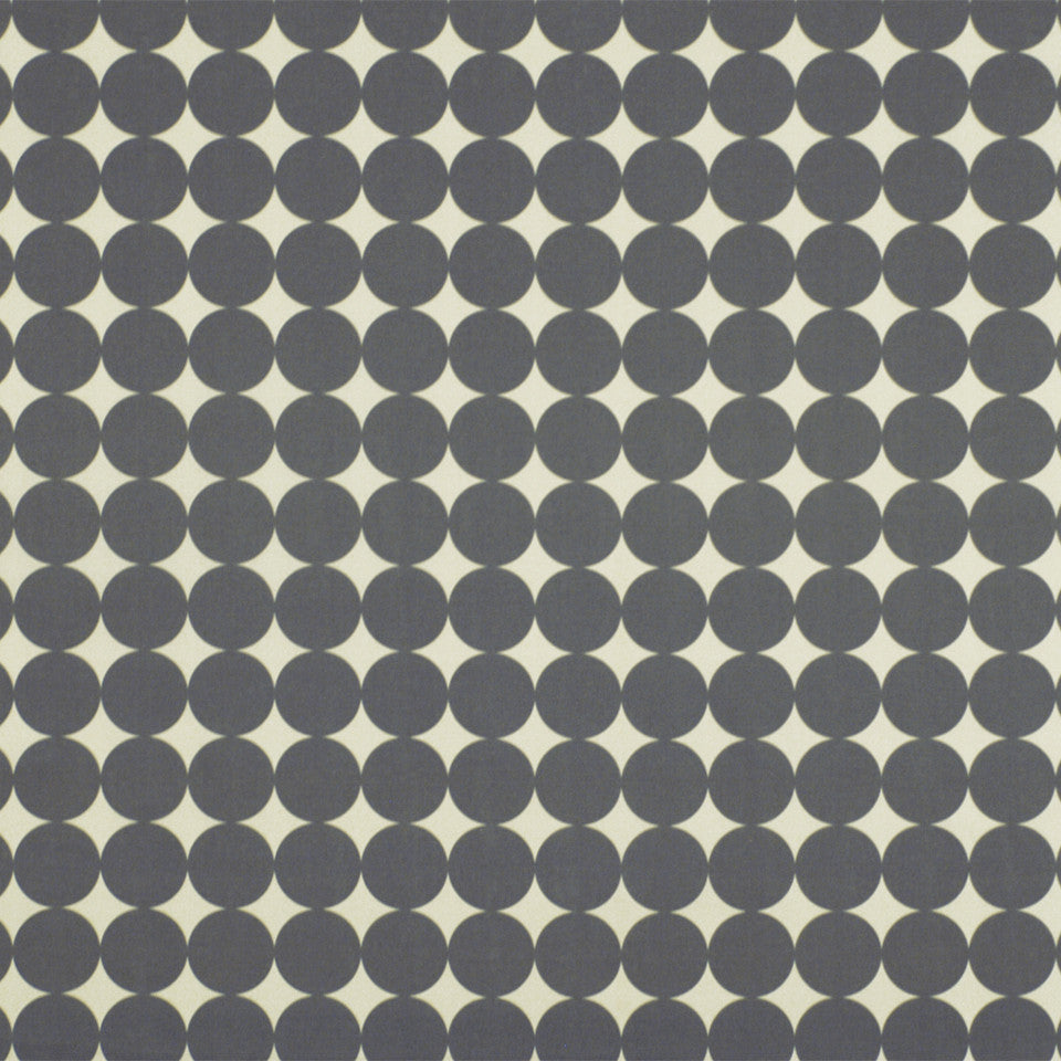DWELLSTUDIO ECLECTIC MODERN Dotscape Fabric - Charcoal