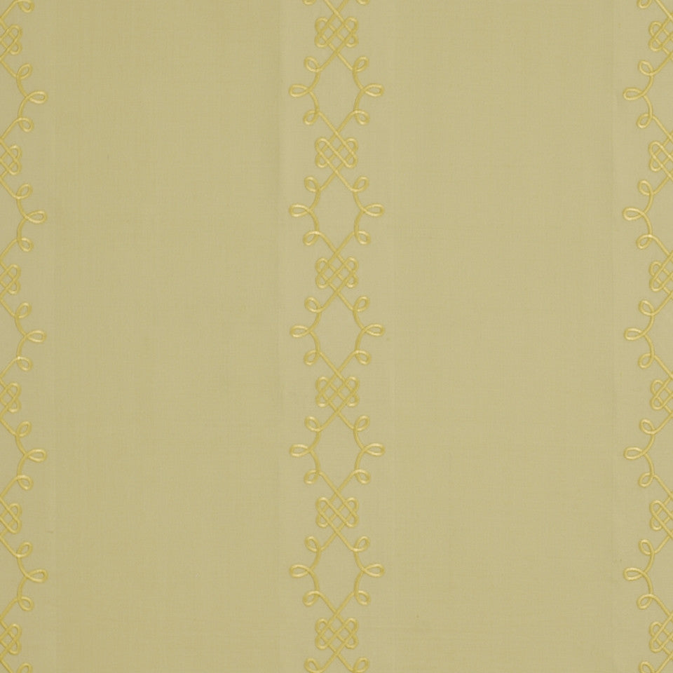 YELLOW LOTUS Line Scroll Fabric - Yellow Lotus