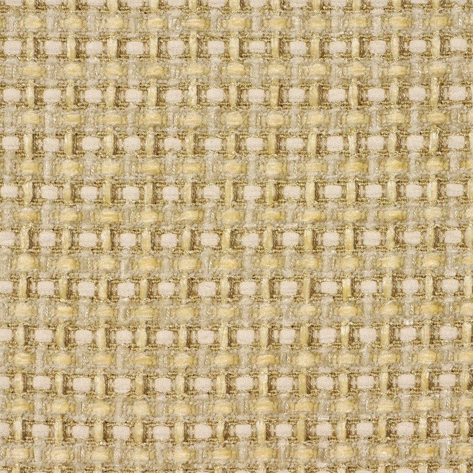 YELLOW LOTUS Chunky Check Fabric - Yellow Lotus