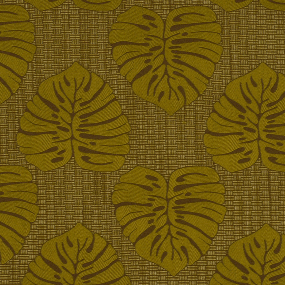 DOCKSIDE Coconut Bay Fabric - Teak