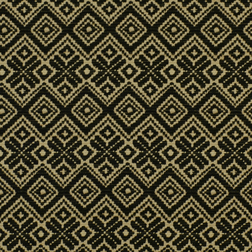 FIRESIDE Diamond Way Fabric - Black
