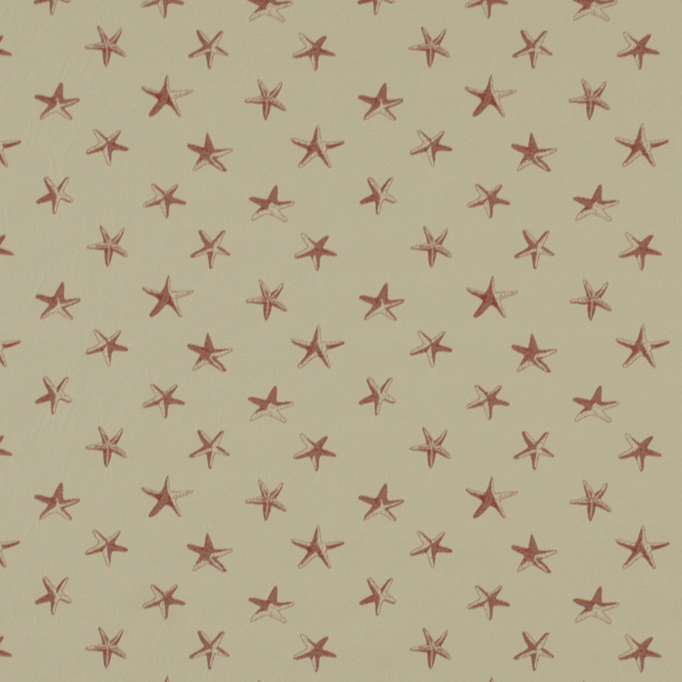 DOCKSIDE Sallys Shells Fabric - Coral