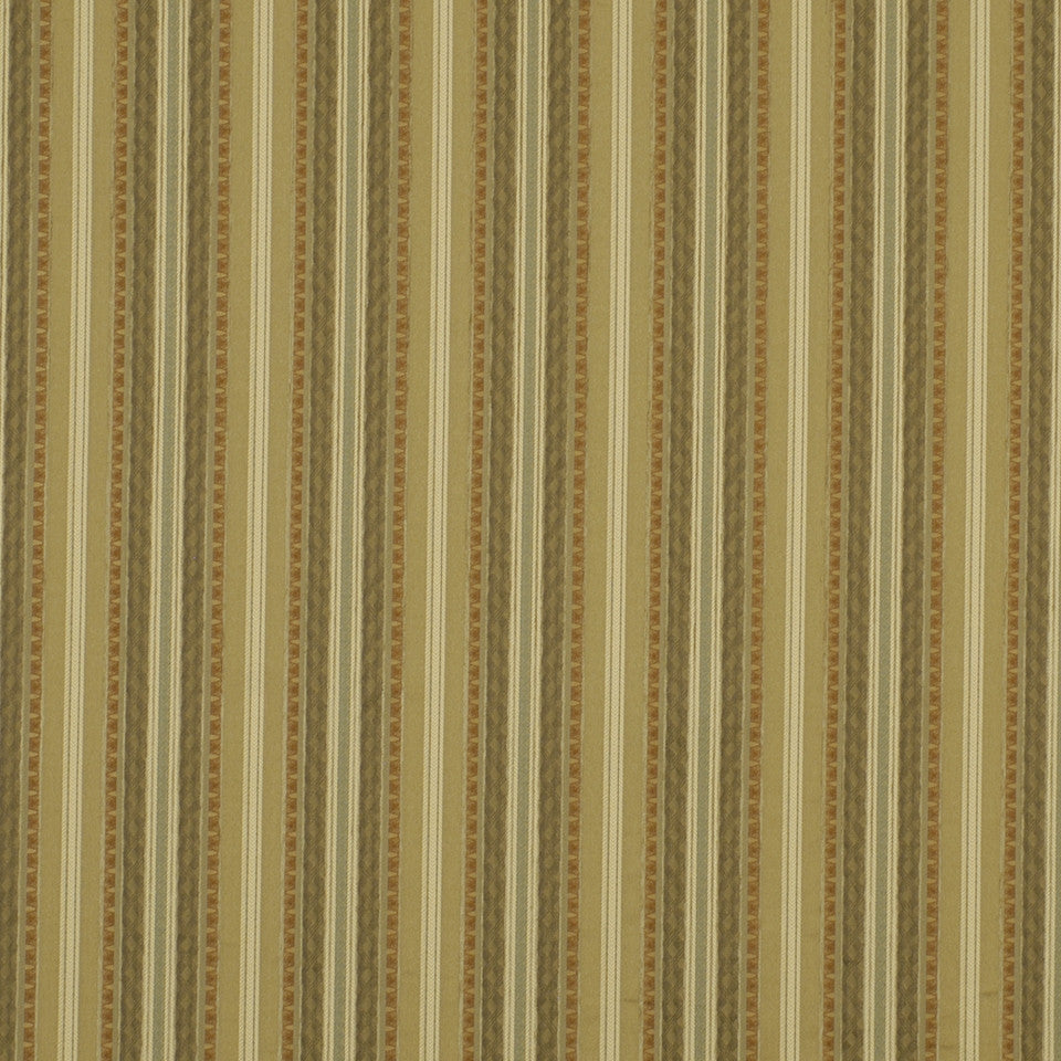 DOCKSIDE Warm Stripes Fabric - Seaglass