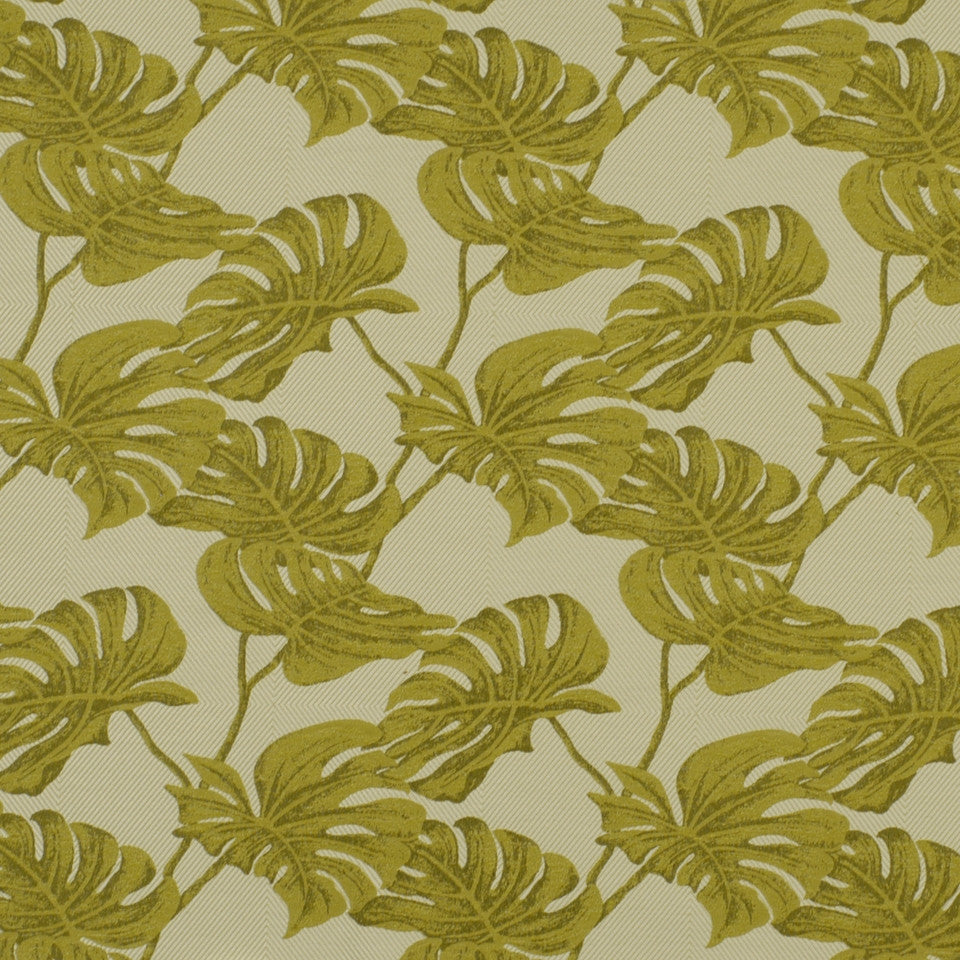 DOCKSIDE Split Leaves Fabric - Palm