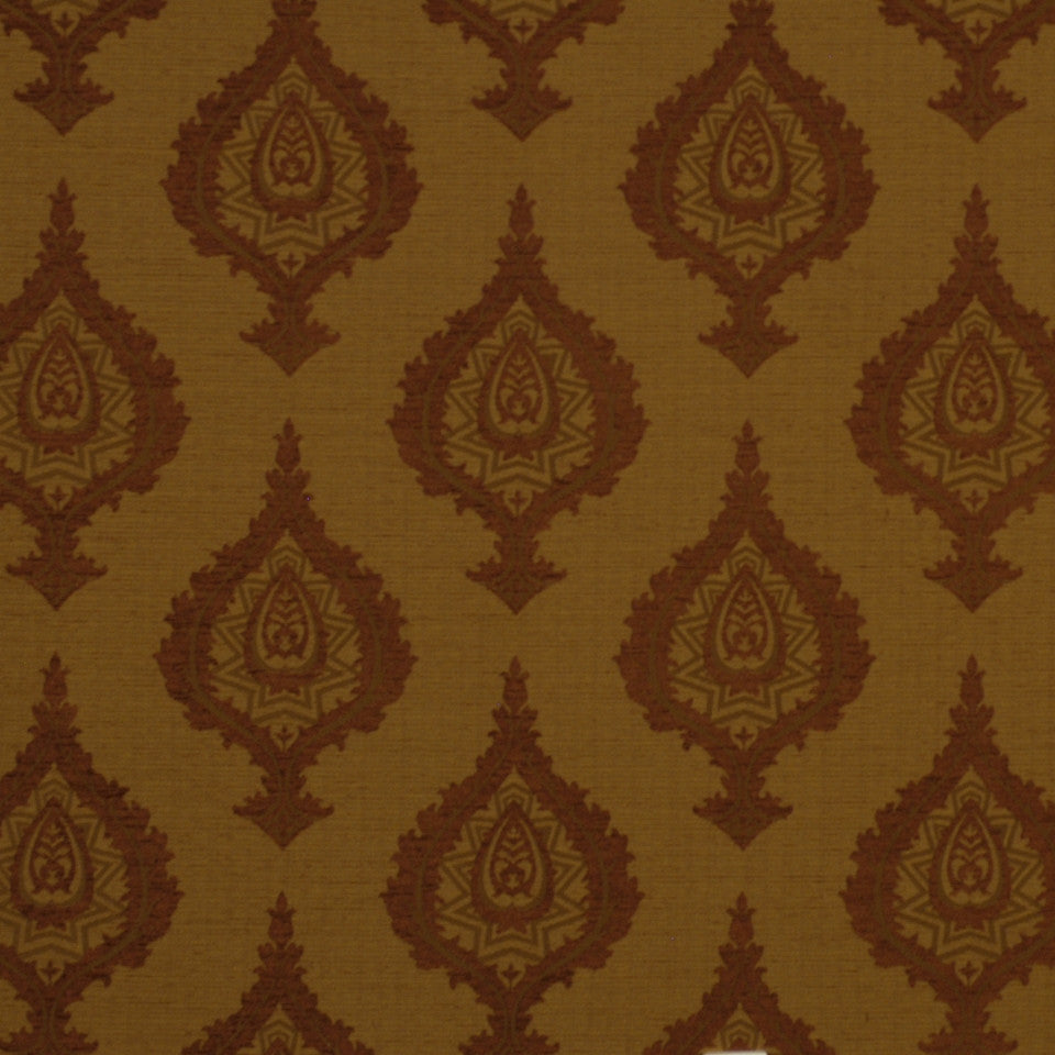 FIRESIDE Cabin Coverlet Fabric - Flame