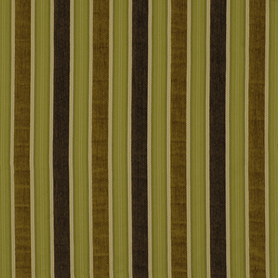 DOCKSIDE Cedar Stripe Fabric - Seaweed