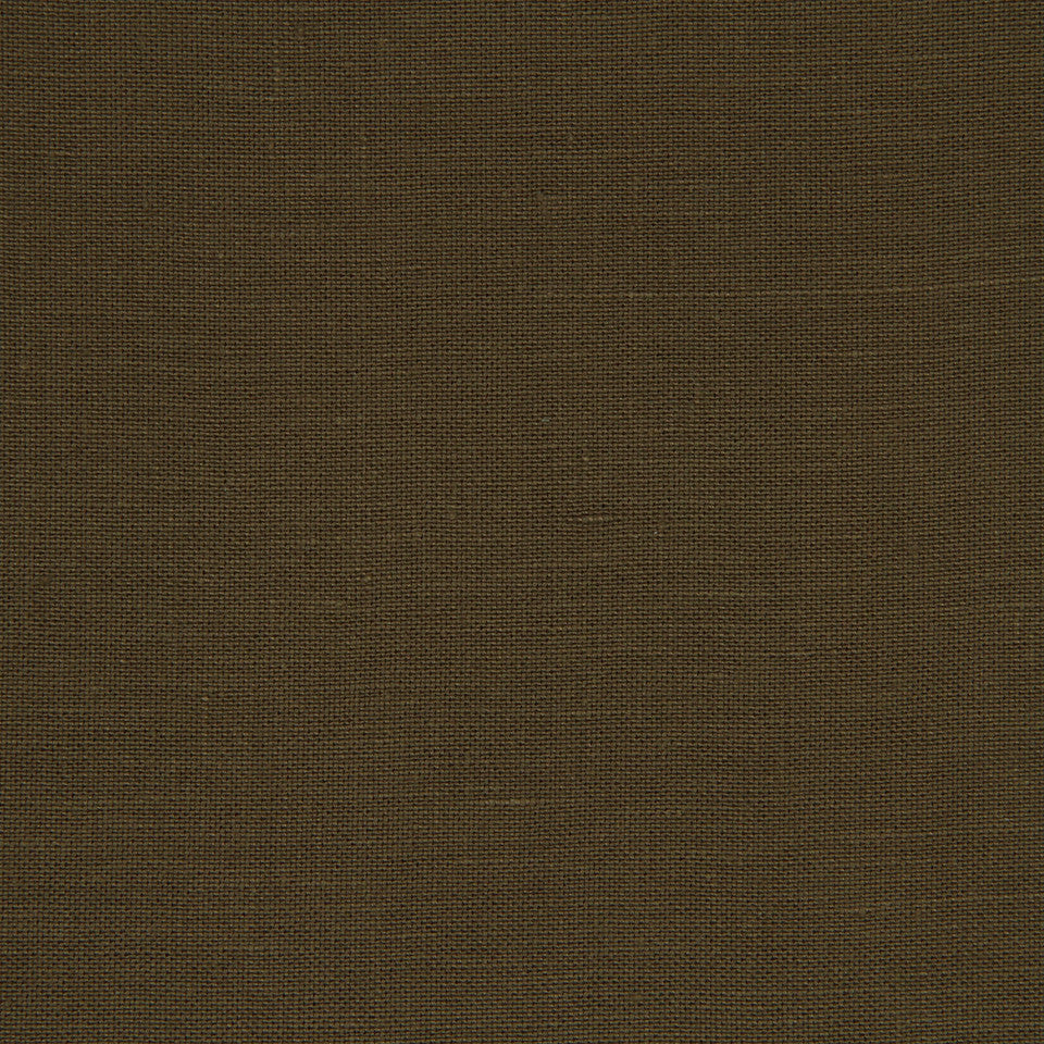 LINEN TEXTURES MP Kilrush Fabric - Espresso
